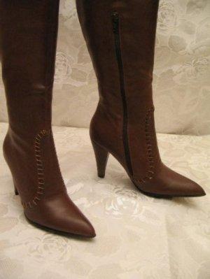 Hochschaft Stiefel 36 Ledersohle Stylische Boots Pumps Elegant