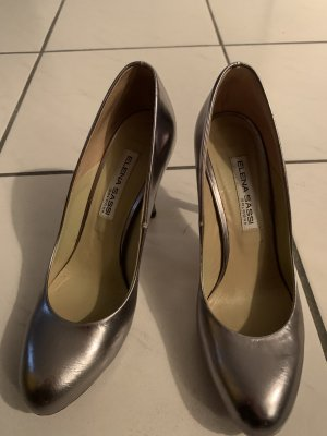 Made in Italy Tacones Mary Jane color plata