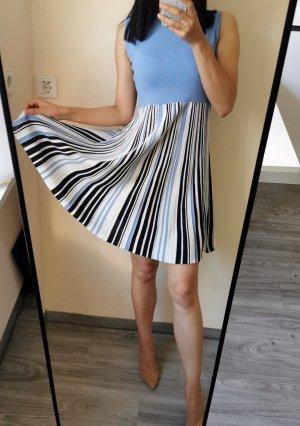 Hochwertig Stricken Kleid Falten Plissee Minikleid Midikleid