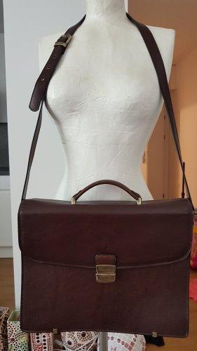 Briefcase bronze-colored-dark brown