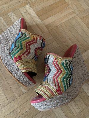 Sandalias con plataforma multicolor