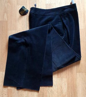 Hochwertige Cordhose Bundfaltenhose schwarz edel