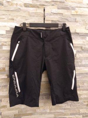 Pantaloncino sport bianco-nero