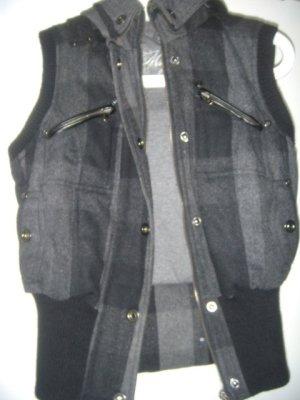 Mango Hooded Vest multicolored wool