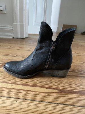 Hochwertige Högl Leder Stiefeletten schwarz
