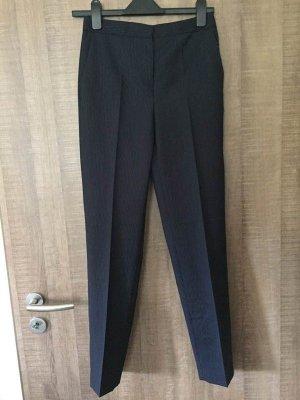 Massimo Dutti Pantalon en laine noir-bleu foncé laine
