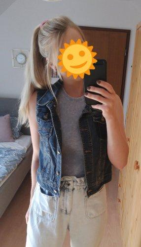 hochwertige Jeans Weste mit Taschen