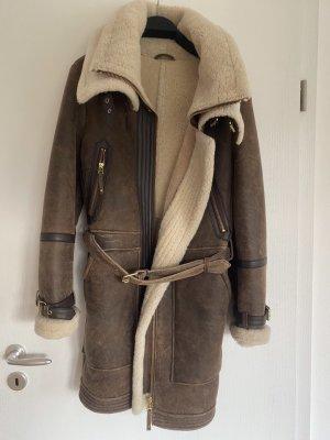 ARMA Veste en cuir brun