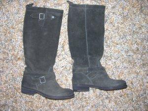 Tommy Hilfiger Botas de pantorrilla ancha marrón grisáceo