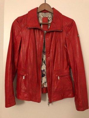 Hochwertige Lederjacke von Milestone-38 M-Rot