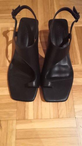 Asos Sandalias de tacón con talón descubierto negro