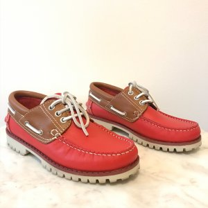 G. K. Mayer Lace Shoes red-white leather