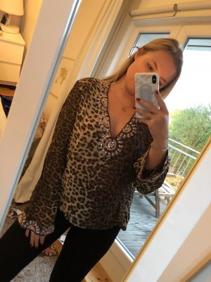 Hochwertige Leoparden-Bluse
