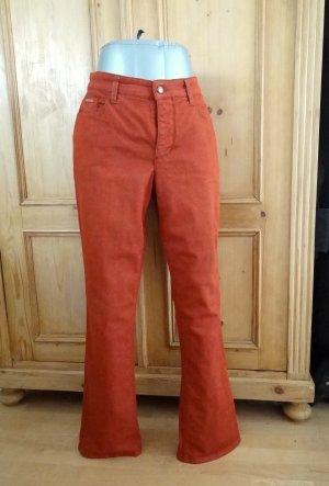 Mac Jeansy z prostymi nogawkami rudy-ciemny pomarańcz Bawełna
