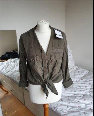 Zara Koszulowa bluzka Wielokolorowy