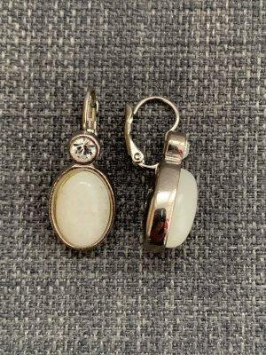 Dyrberg/Kern Wiszące kolczyki biały-srebrny