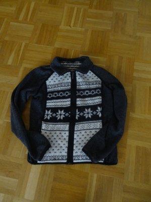 hochwertige Outdoor-Jacke mit Norwegermuster