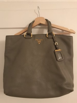Prada Hobos light grey leather