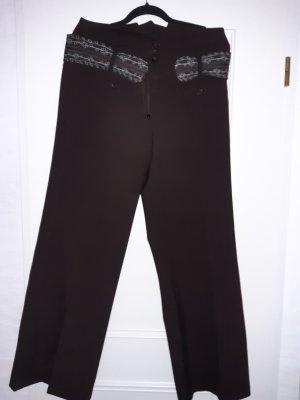 Dept Pantalón anchos marrón oscuro