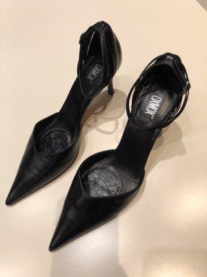 Hochwertige Schuhe /Pumps Schwarz,  38, Leder