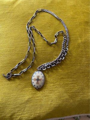 Hochwertige Silberkette mit Medaillons