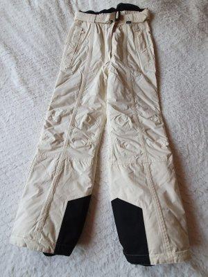 Maier Sports Pantalón de esquí blanco puro-negro poliamida