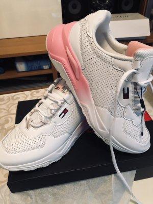 Hochwertige Sneakers von Tommy  Hilfiger gr.40, Weiß /Rosa Neu