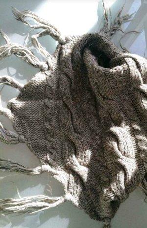 Esprit Bufanda de lana marrón grisáceo