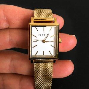 Hochwertige Uhr von PERDITI, goldfarben