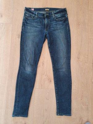 Hochwertige und leichte super Skinny Jeans in blau - mid rise 36/38