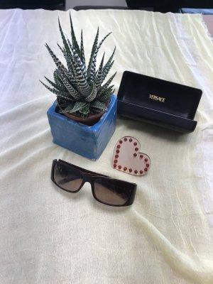 Gianni Versace Angular Shaped Sunglasses dark brown
