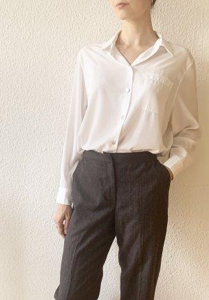 Vintage Pantalon à pinces gris foncé-rouge foncé