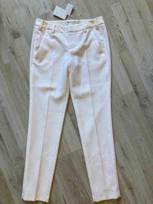 Zadig & Voltaire Wełniane spodnie w kolorze białej wełny-biały Wełna
