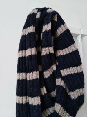 Esprit Bufanda de lana blanco puro-azul oscuro