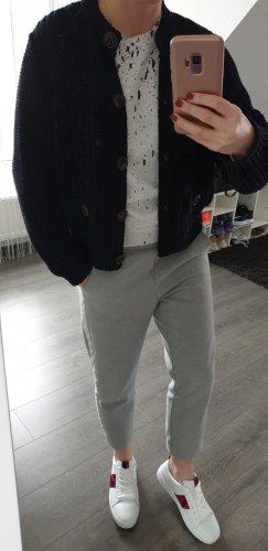 Uterqüe Pullover a maglia grossa blu scuro