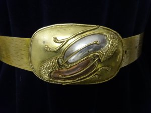 Boucle de ceinture doré
