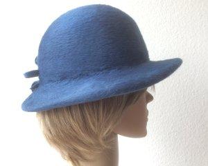 Cappello in feltro blu Lana