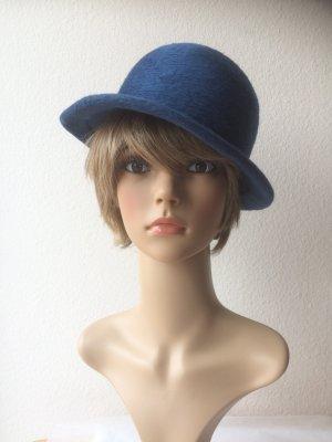 Chapeau en feutre bleu laine