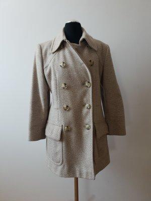 Carla Degen Wool Coat grey brown-beige new wool