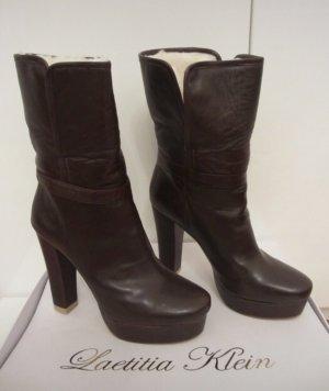Laetitia klein Platform Boots brown-natural white