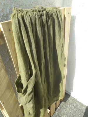 HOP SACK Jupe longue vert olive