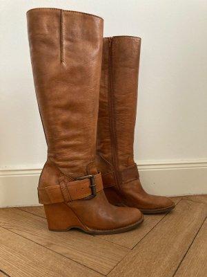 Apepazza Bottes à talon brun-marron clair cuir