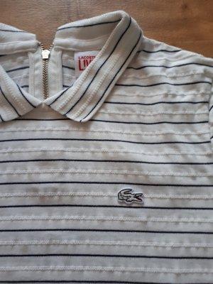 Lacoste Camiseta tipo polo negro-blanco Algodón