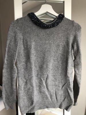 1.2.3 Paris Wełniany sweter szary-ciemnoniebieski