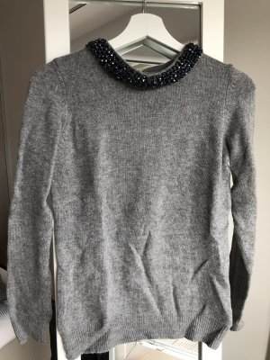 1.2.3 Paris Maglione di lana grigio-blu scuro