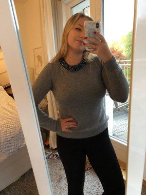 1.2.3 Paris Wool Sweater grey-dark blue