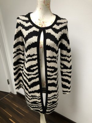 Gebreide jas zwart-licht beige
