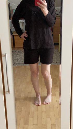 Kathleen Madden Twin set in maglia marrone scuro