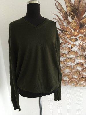 WOOLMARK Maglione di lana verde scuro