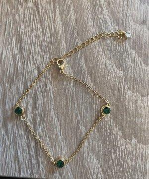 Metropolitan Brazalete de oro verde bosque-color oro metal